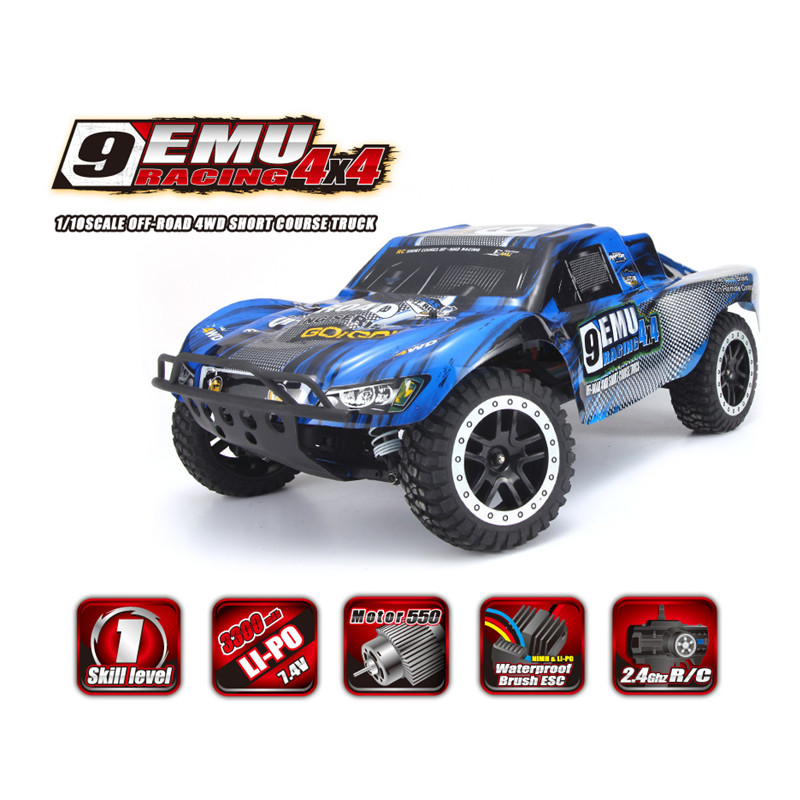 REMO HOBBY 1021 1/10 4WD 2.4G Off-road Short Course Truck - RTR Standard Edition Off-road Race Car Monster Truck Climbing Car