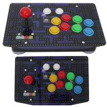 Joystick darcade à 10 boutons, RAC J500S panneau acrylique filaire USB pour PC multicolore