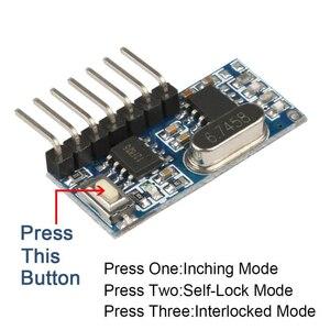Image 4 - 20 Pcs 433Mhz Drahtlose Fernbedienung Schalter 4CH RF Relais EV1527 Encoding Lernen Modul Für Licht Relais Empfänger