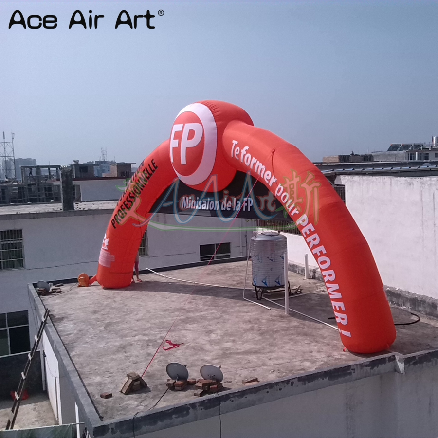 10x5.4m printing 3d <font><b>billboard</b></font> arches <font><b>inflatable</b></font> start finish line arch door with removable banners on sale image