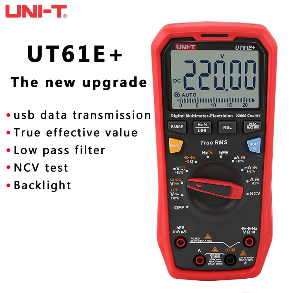 Обновленная версия UNI-T UT61E + UT61D + UT61B цифровой мультиметр True RMS AC/DC тестер сопротивления тока