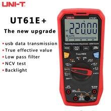 Versão atualizada de UNI-T ut61e + ut61d ut61b multímetro digital verdadeiro rms ac/dc tensão atual resistência capacitância tester