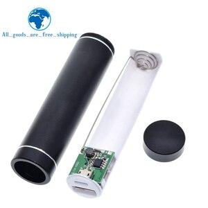 Image 1 - بطارية خارجية معدنية لتقوم بها بنفسك عدة صندوق تخزين بدلة لحام مجانية 1X 18650 بطارية 5 فولت 1A USB شاحن خارجي هاتف ذكي