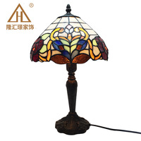 Mediterranean Retro Style Glass Turkish Mosaic Table Lamps Handworked Study Bedroom Home Art Decor Turkish Lamp