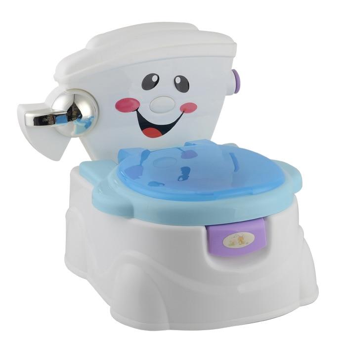 Genuine Product Baby Pee Good Partner Model Smiley Toilet For Kids Infants Chamber Pot Music Pedestal Pan