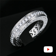 2mm 0.05 carat round cut Diamond Ring not fake S925 sterling silver fine wedding proposal anniversary yes i do engagement