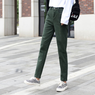 NEW Autumn Spring Women Pants Casual High Street Mid Waist Pants Flat womens pants