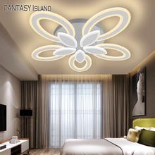 Płatki nowoczesne lampy sufitowe Led salon sypialnia kwiat kuchenny lampa sufitowa oprawy oświetleniowe tanie tanio Fantasy Island CN (pochodzenie) Metrów 15-30square Jadalnia Łóżko pokój Foyer Badania 220 v WHITE Ironware + Akryl