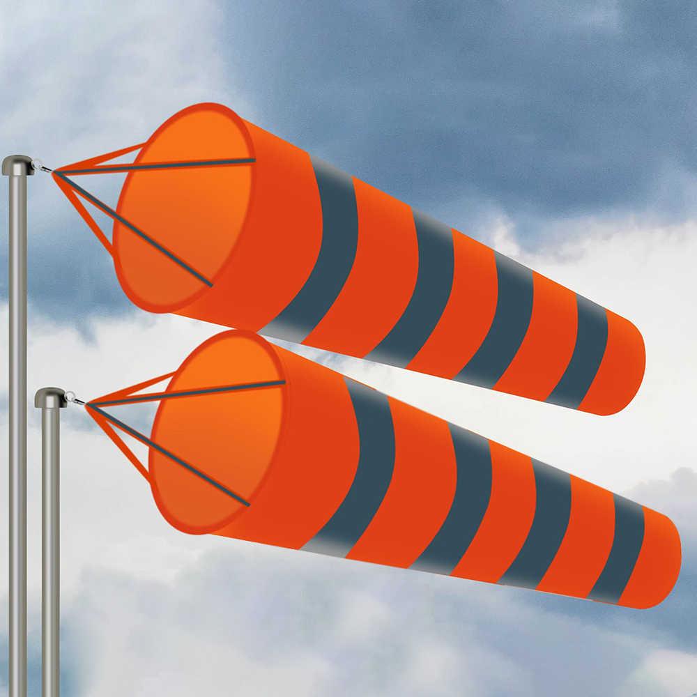 Taille : 0.8m//2.62 ft Sac de Chaussette pour la Mesure du Vent en Plein air avec Une Ceinture r/éfl/échissante en Nylon Eastbuy Airport Windsocks