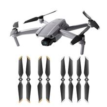 Hélices para dji mavic air 2, mini hélices de baixo ruído, 2 peças, 4 peças, 8 peças 7238 ventilador de parafuso de ar acessórios para partes do drone da câmera