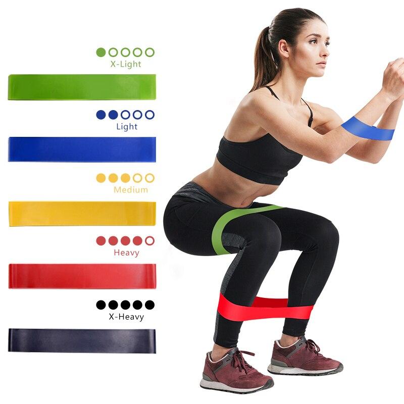 5 renk Yoga direnç bantları egzersiz kalça eğitim kauçuk elastik Elast Band spor spor sakız spor ekipmanları Glute egzersiz