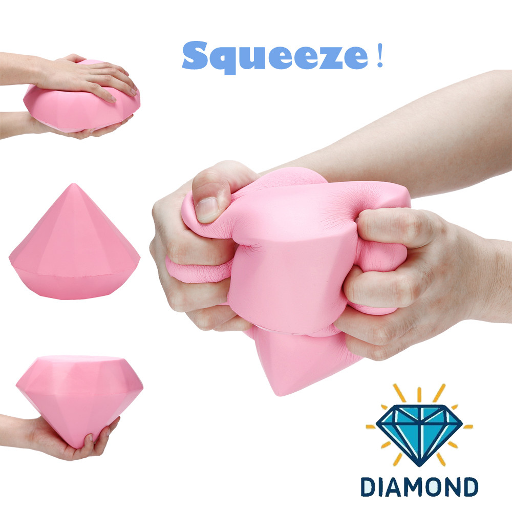 Toys For Children Stress Reliever Pink Diamond Scented Super Slow Rising Kids Toy Cute Squeeze Toy Kid Toy Squishy Toys Juguetes
