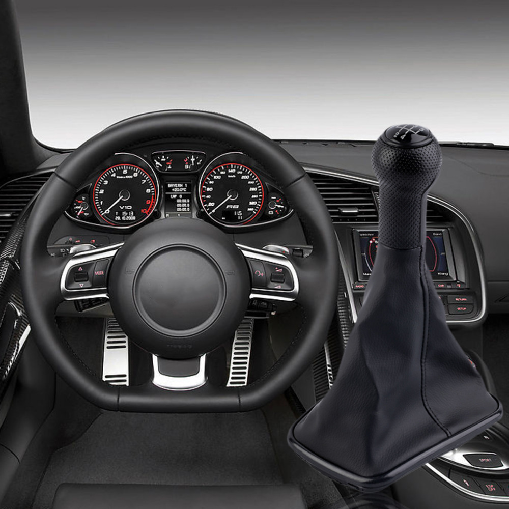 Free Shipping Hot 5 Speed Gear Shift Knob Gaitor Cover Black For PASSAT B5 For Volkswagen High Quality Durable