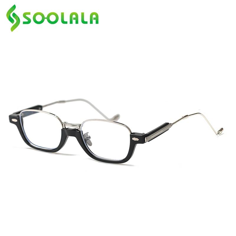 SOOLALA-gafas de lectura sin montura para hombre y mujer, anteojos de lectura sin montura, con brazo de Metal delgado, para presbicia + 0,5 0,75
