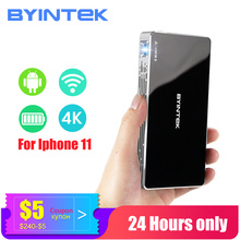 BYINTEK Big Discount Mini projector portable Home Theater MD322 Android Wifi 8GB USB Airplay Bluetooth HDMI Proyector Beamer стоимость