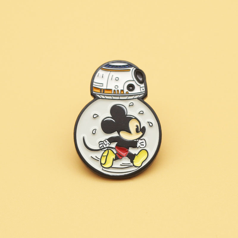 Star Wars BB8 robot brooch and enamel pins Men and women fashion jewelry gifts anime movie novel lapel badges image