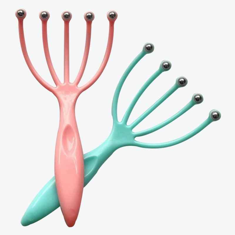 1 stücke Fünf Finger Kopf Entspannen Massager Haar Gehalten SPA Kopfhaut Hals Stress Relief Massager Release Kopf Arzt Stahl Ball massager