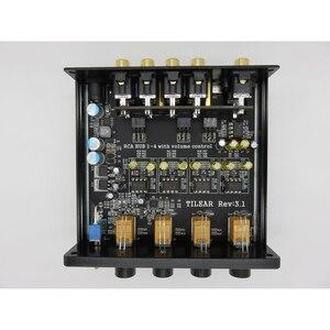 Image 2 - 1 entrée 4 sorties RCA Audio distributeur amplificateur sans perte séparateur Audio NE5532 Op Amp avec amplificateur de contrôle du Volume de tonalité