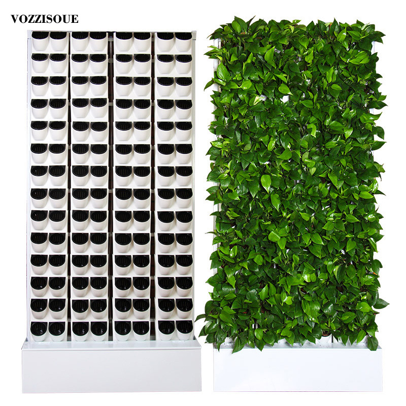 Grote Zelf Gieter Bonsai Muur Planter Plastic Bloempot Air Plant Houder Indoor Tuin Decor Verticale Hydrocultuur Systemen
