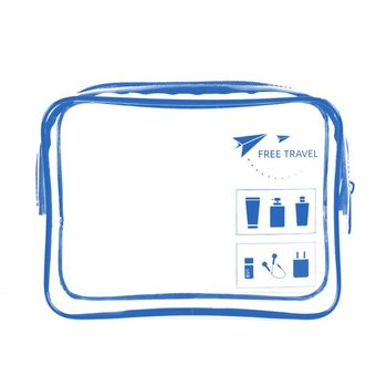 Portable Transparent Travel Cosmetic Bag Pouch Toiletry Zip Wash Toiletry Organizer Makeup Case fresh fashion portable flowers travel cosmetic bag pencil makeup case pouch women toiletry wash organizer bag female coin bags