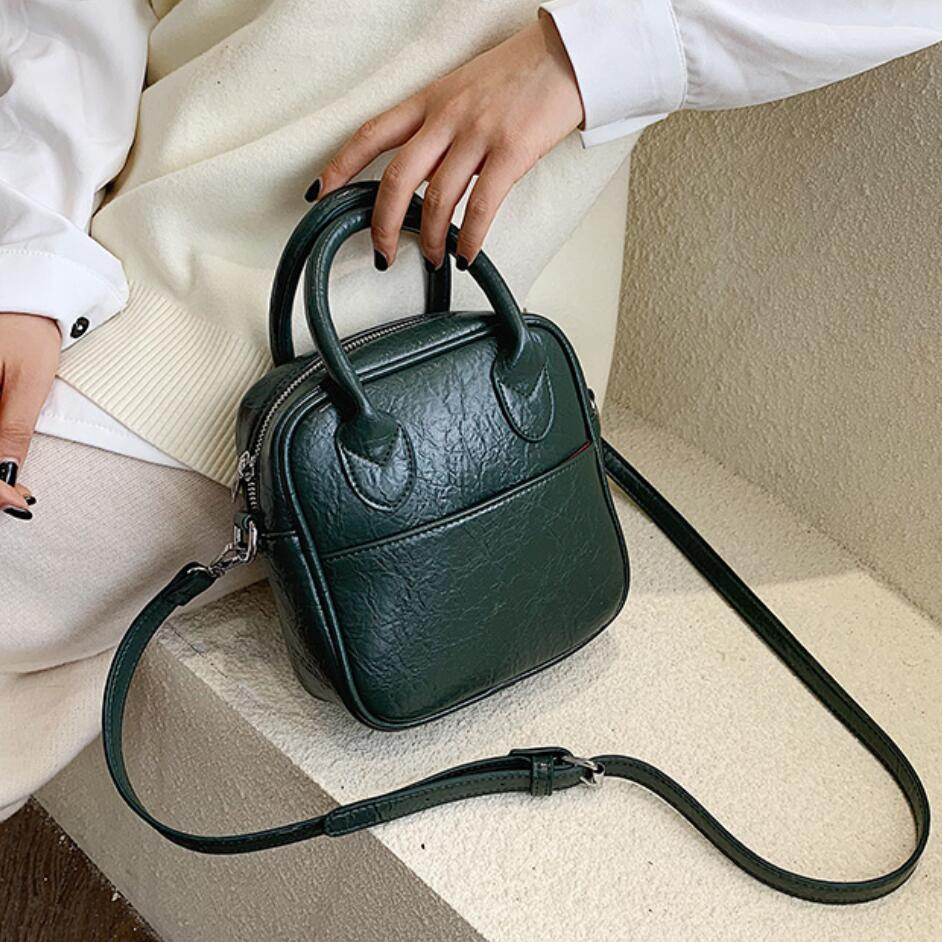 Vintage Fashion Female Small Tote Bag 2019 New High Quality PU Leather Women's Designer Handbag Casual Shoulder Messenger Bag