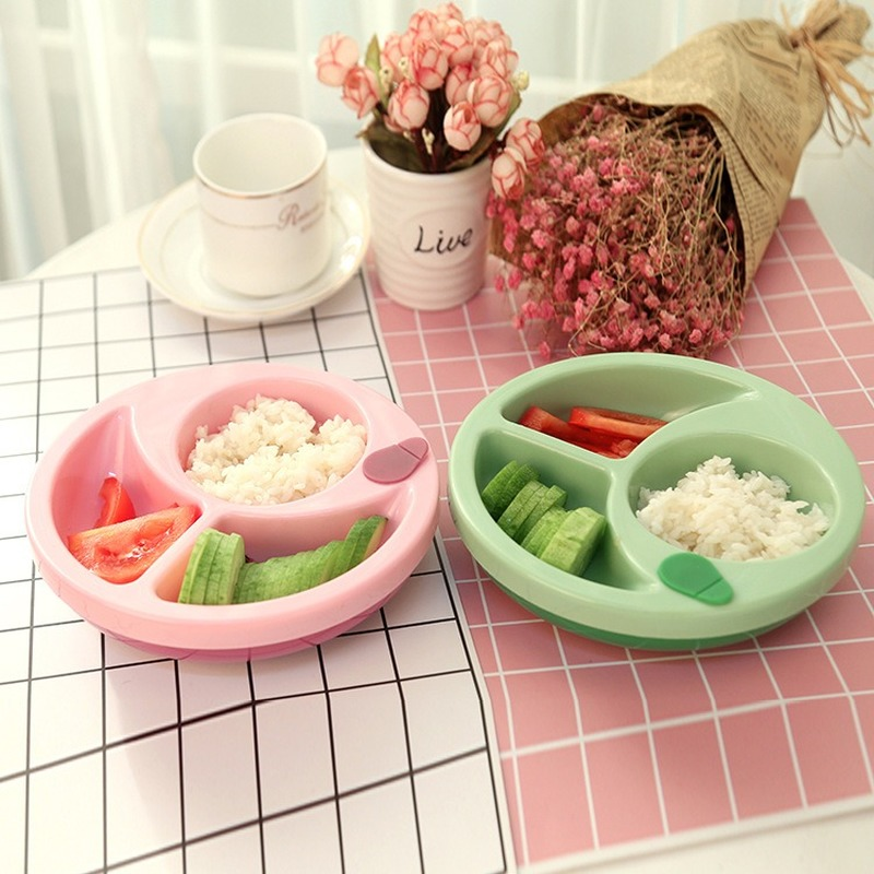 Anti-fall Bowl+Spoon Fork Set Baby Insulation Bowl Anti-slip Suction Feeding Bowl Learning Dishes Children  Tableware Bowl