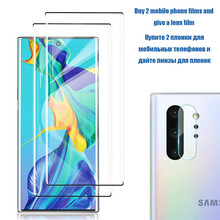 20D Fingerprint unlock Tempered Glass For Samsung  Galaxy Note 10 plus Screen Protector 9 8 S10 Lite Full Cover F