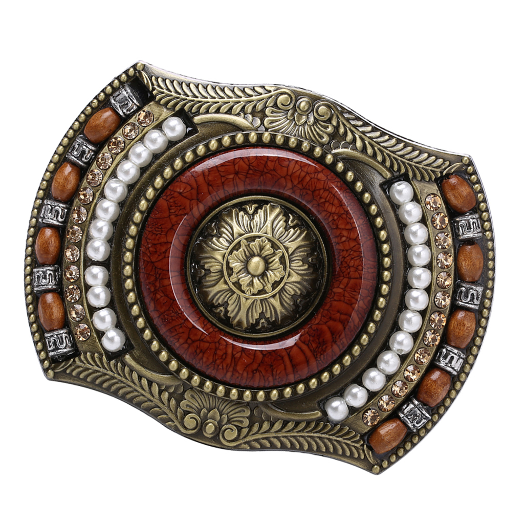 Men's Western Bohemia Indian Cowboy Buckle Vintage Belt Buckle Replacement Belt Strap