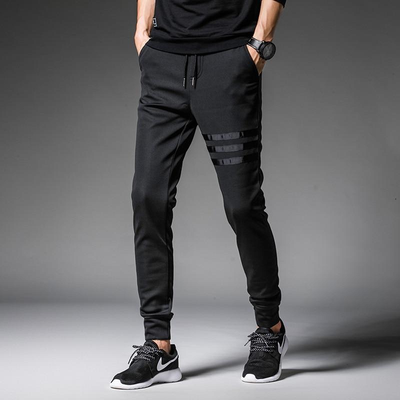 Large Size MEN'S Trousers 3 Article Webbing Three Bars Athletic Pants Casual Pants Skinny Pants MEN'S Trousers K102