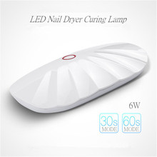 CHIVENIDO Mini Gel UV Lamp Shell Shape Design Led Nail Dryer for Salon
