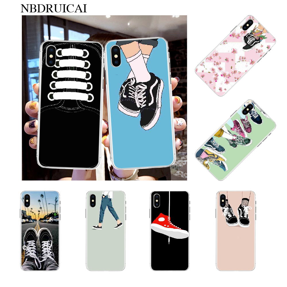 NBDRUICAI Skate shoes sneakers Coque Shell Phone Case for iPhone 11 pro XS MAX 8 7 6 6S Plus X 5S SE XR cover