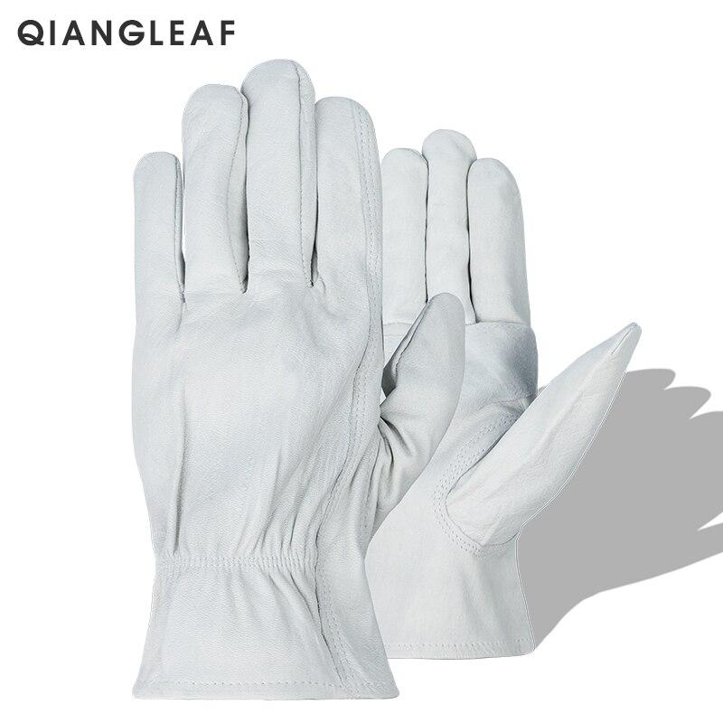 QIANGLEAF Brand New Protective Work Glove Welding Men White Safety Wear Fashion Gloves Working European Size H93w