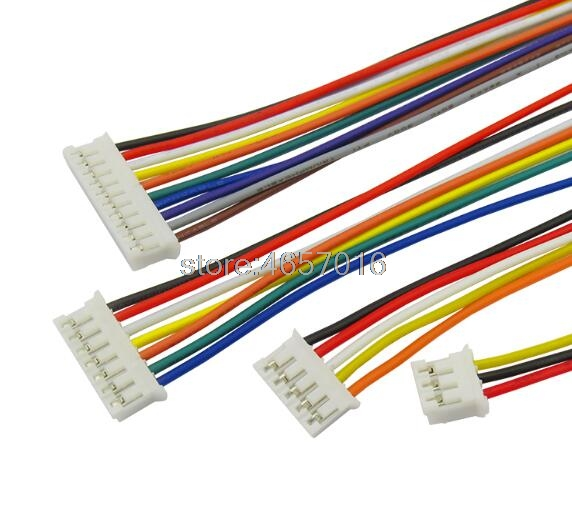 100pcs Micro JST Mini PH 2.0 2/3/4/5/6/7/8/9/10/12-Pin Connector Plug with Wires Cables 100MM 26AWG