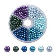 650pcs/box 4mm Glass Pearl Bead Sets Pearlized Round Loose Beads Mixed Color for DIY Jewelry Craft Making 1box mixed style round glass pearl beads mixed color crafts jewelry diy maker supplies hot sale