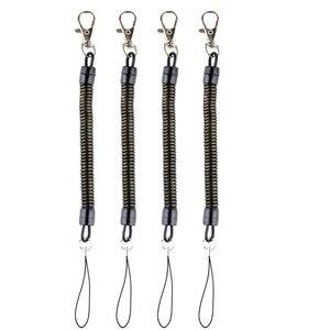 Image 1 - DHLfree 500 шт Черная Выдвижная пружинная катушка спиральная растягивающаяся цепь брелок пружинная веревка