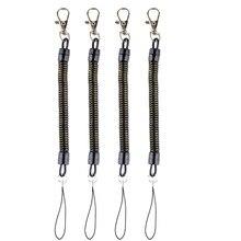 DHLfree 500PcsสีดำสปริงขดลวดเกลียวยืดChain Key Chainแหวนฤดูใบไม้ผลิเชือก