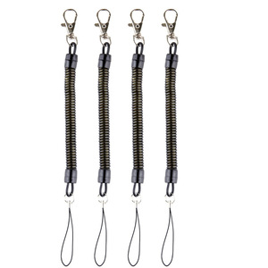 Image 1 - DHLfree 500pcs Black Retractable Spring Coil Spiral Stretch Chain Key chain Key Ring Spring Rope