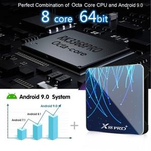 Image 3 - X88 PRO Plus Octa Core Android 9.0 TV Box 4GB 128GB Rockchip RK3368PRO TVBOX 1080p 4K Google Assistant vocal 32GB décodeur