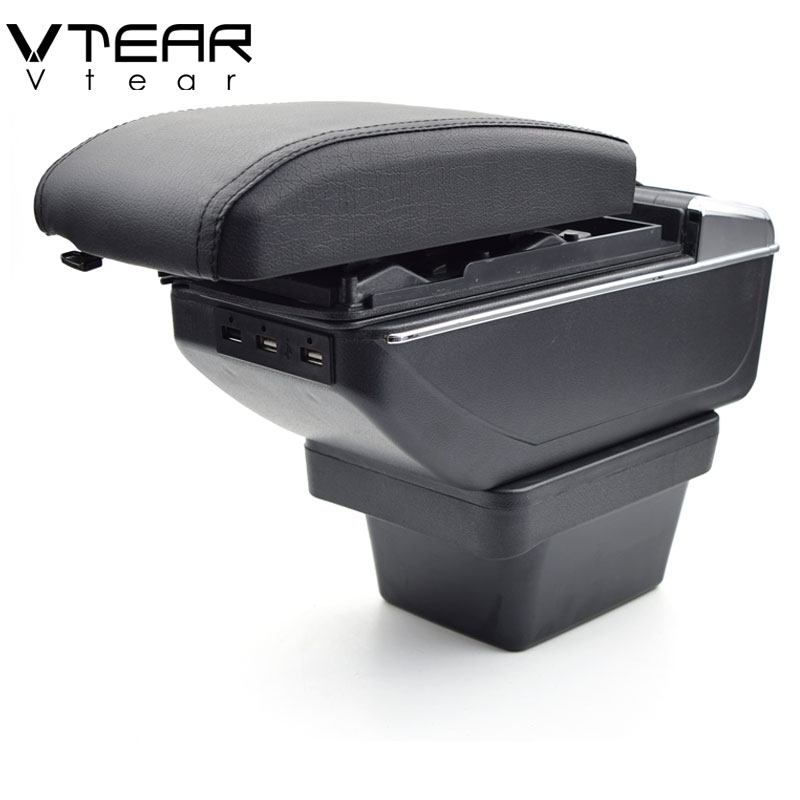 Vtear For Chery Tiggo 2 3X armrest car Charging heighten Double layer Center Console Arm rest USB storage box accessories 2018(China)
