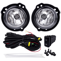 Fog Light Assembly for TOYOTA AVANZA 2015 4300K 12V 55W ABS Metal Car Lights Yellow Halogen Lamp With Switch Plating Cover