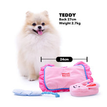 Ins Hot Korea Hotel pillow rabbit slippers whisk Dog Plush Toy Dog Toy With Funny Sound Omurice Cat Puppy Chew Interactive Toys