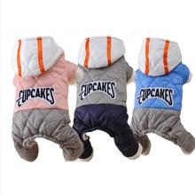 Autumn and Winter Pet Clothes Four-legged Down Jacket Multi-color Casual Coat Dog