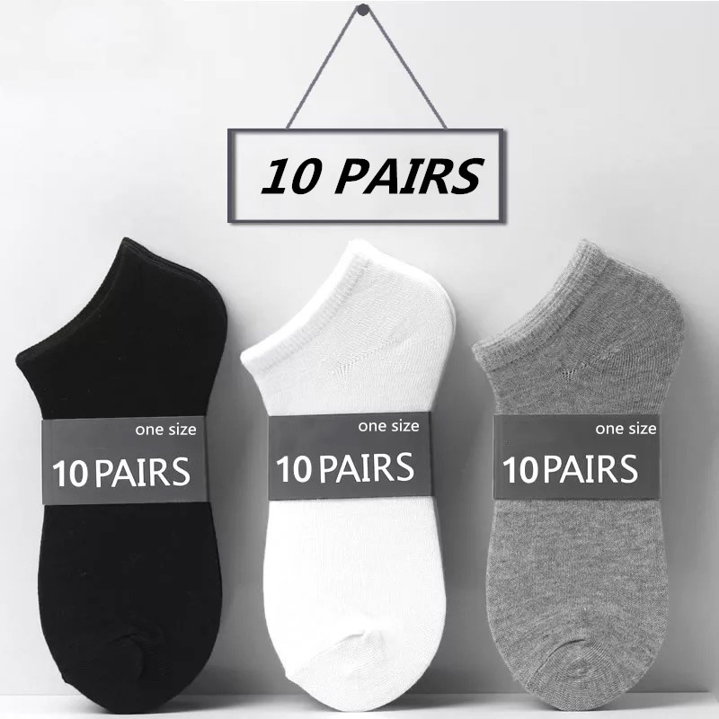 20pcs=10 Pairs/lot Spring Summer Women Cotton Ankle Short Socks  Low Cut Invisible Breathable Solid Color Boat Ankle Socks