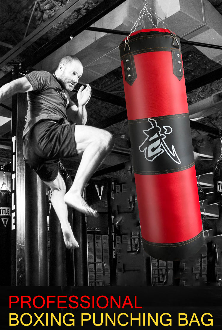 Sac de Boxe de Fitness Suspendu Non rempli FOLOSAFENAR Sac de Boxe pour Enfants pour la Force de lexercice Coque Oxford lentra/înement Musculaire de Remise en Forme