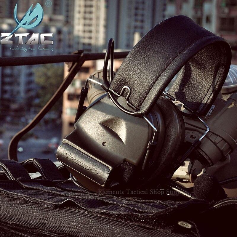 Тактическая гарнитура Z TAC для охоты Comtac II 6th Circuit Board 2020 версия 2 режима шумоподавление тактическая гарнитура Softair-3