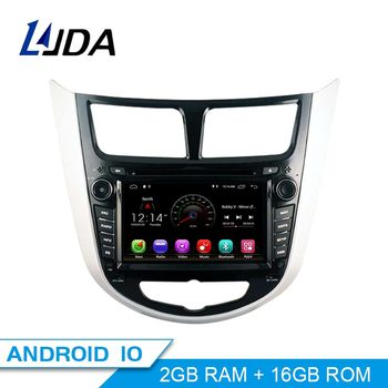 LJDA Android 10.0 Car dvd player for Hyundai Solaris accent Verna i25 Car Radio gps navigation stereo multimedia WIFI autoaudio image