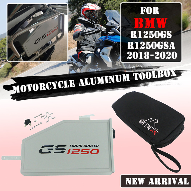 Motorcycle Tool Box Decorative Aluminum Box Toolbox 5 Liters for Left Side Bracket For BMW R1250GS Adventure LC R 1250 GS Adv