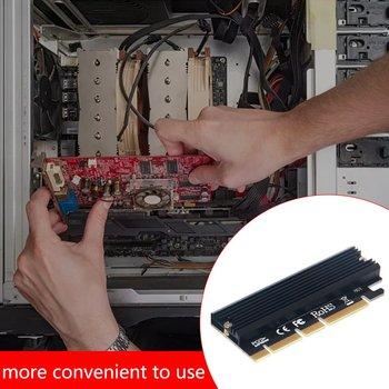 PCI-E 3 0 16x M 2 Adapter powłoka aluminiowa LED dysk półprzewodnikowy karta rozszerzeń komputer Adapter wysoka prędkość transmisji tanie i dobre opinie MARSPOWER NONE CN (pochodzenie) Brak Expansion Card aluminum alloy Black 6000 MB s M-KEY M 2 PCI-E 4x PCI-E 8x PCI-E16x