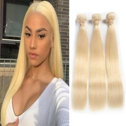 Smoora 10-36 38 40 Inch Brazilian Straight Hair 613 Blonde Human Hair Bundles Mix Length 3 4 Pcs 613 Blonde Remy Hair Extensions