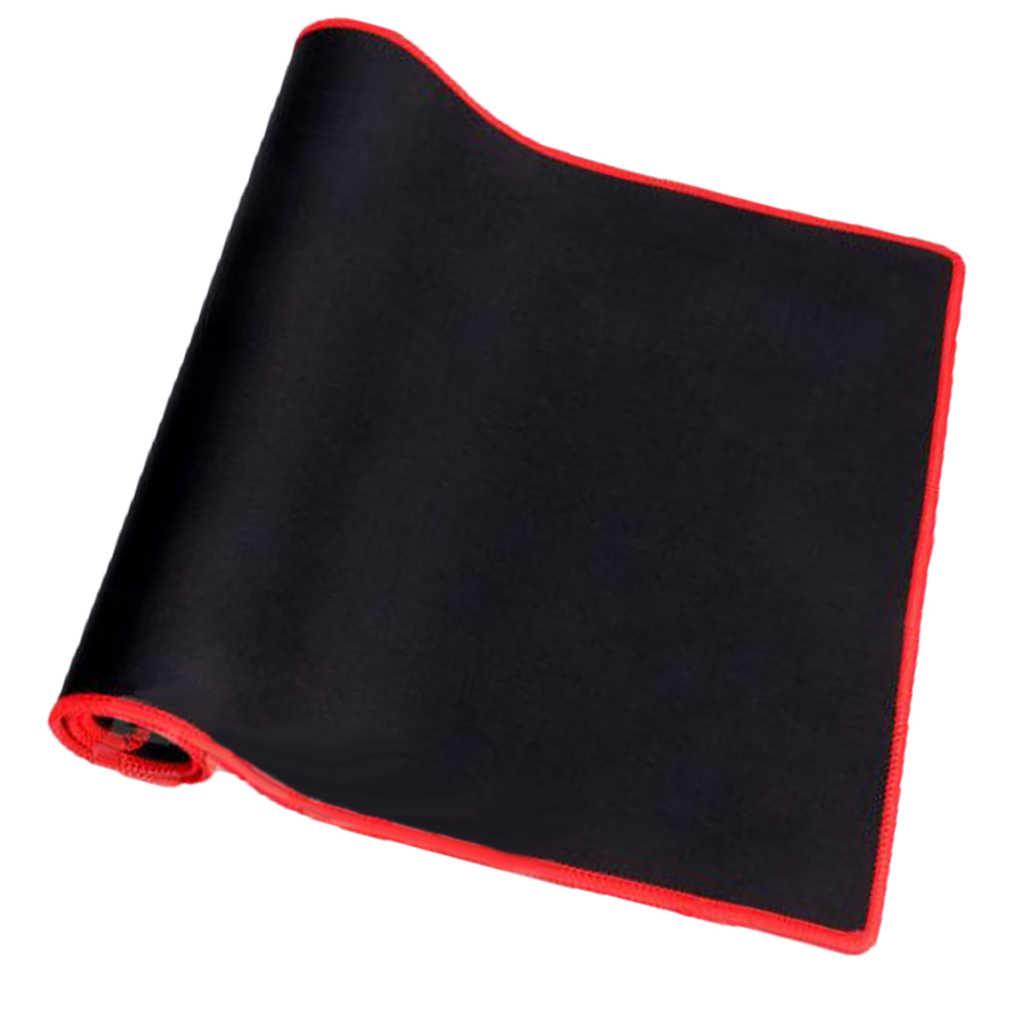Karet PC Laptop Komputer Gaming Mouse/Keyboard Pad Tikar-Edge Hitam